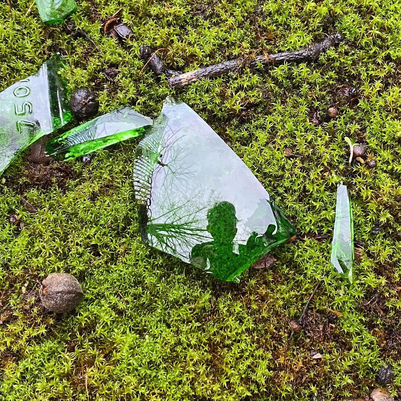 Moss glass selfie