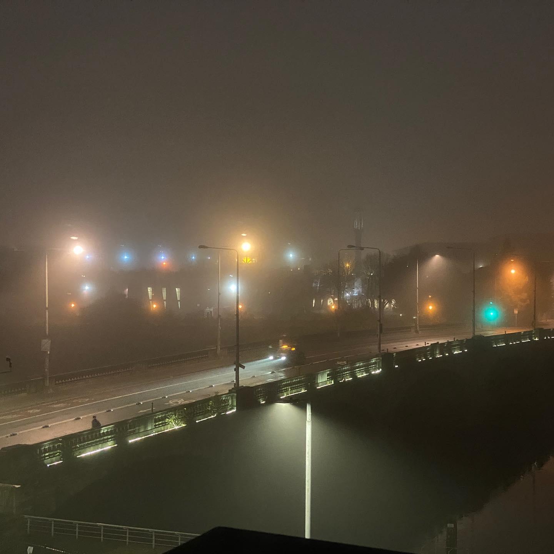Lights, mist