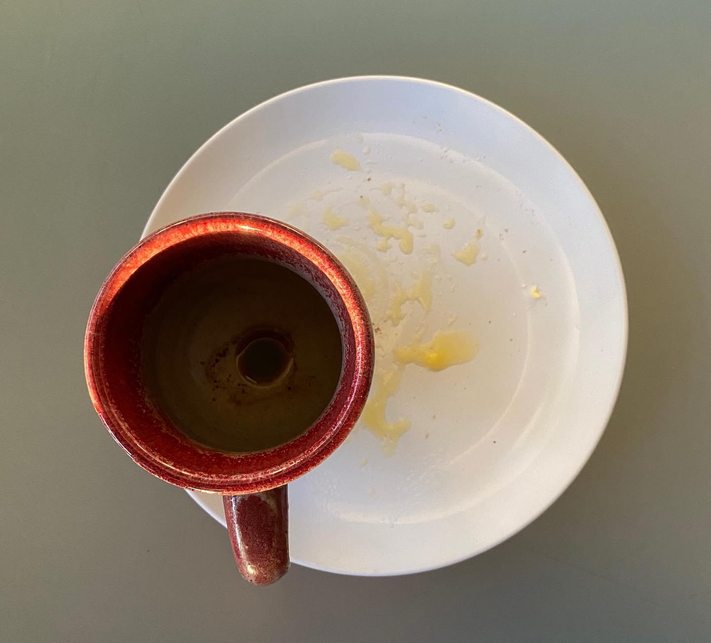 Coffee eye with ghee
